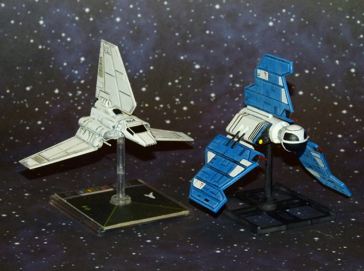 Republic Knight Shuttle 1/270 3d printed Size Comparison with Lambda Shuttle