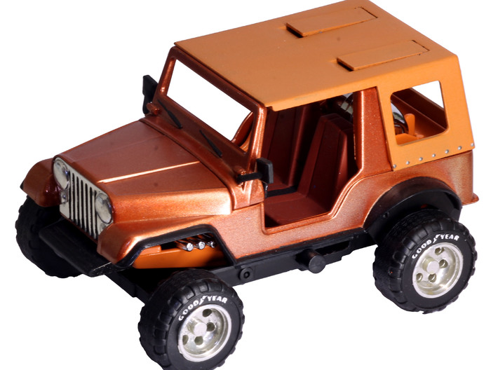 M.A.S.K. Gator Windscreen And Mirrors 3d printed