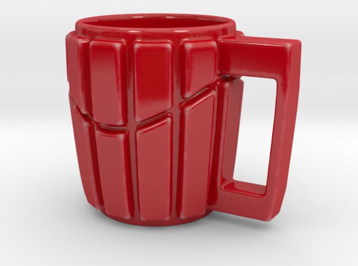 Striped Wave Mug 3d printed