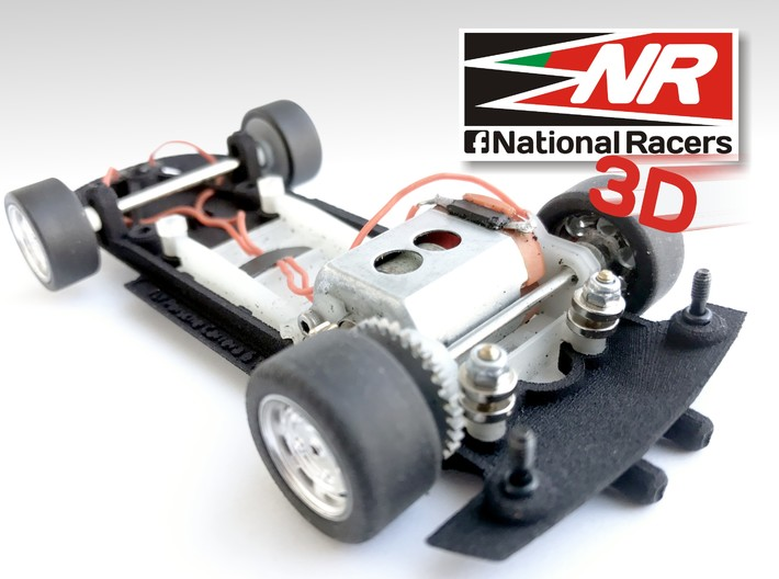 3D Chassis - Fly Porsche Carrera 6 (SW/Inline) 3d printed