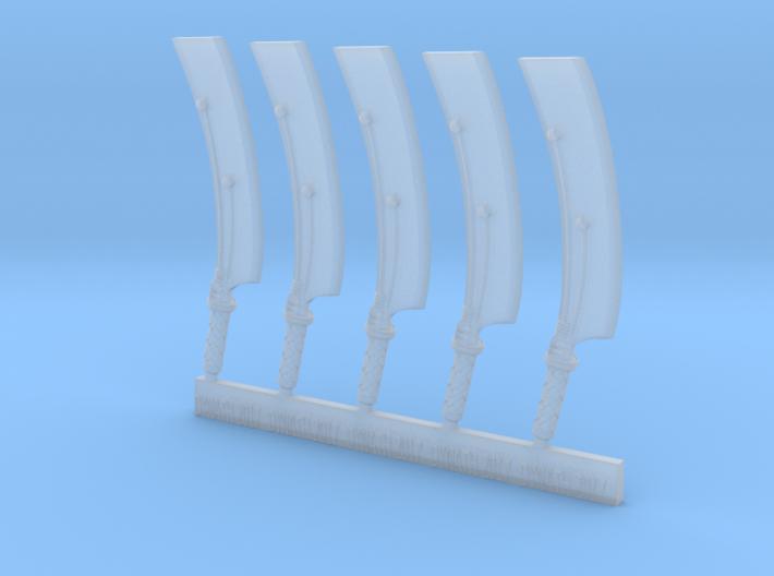 Mk1 - Techno-cleaver (x5) 3d printed