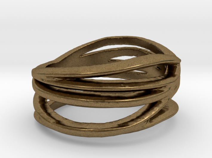 My Awesome Ring Design Ring Size 7.5 3d printed
