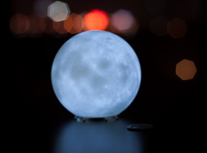Moon lamp 3d printed With LED tea light (LED light to be purchased separately)