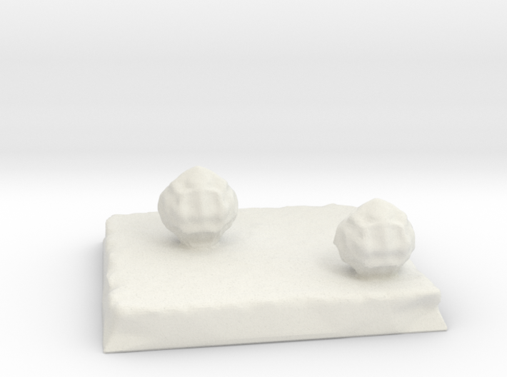 Terrain 2in square with Bushes 3d printed