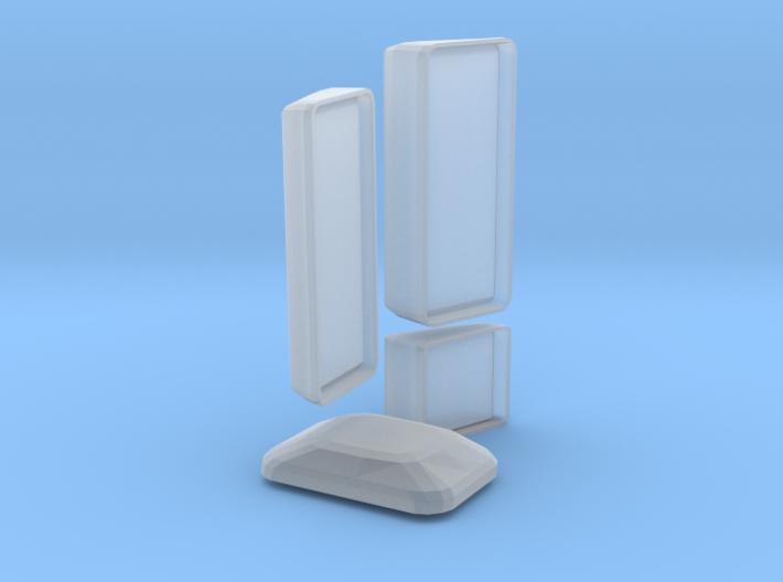 MAN F2000 Silent Body Mirrors 3d printed