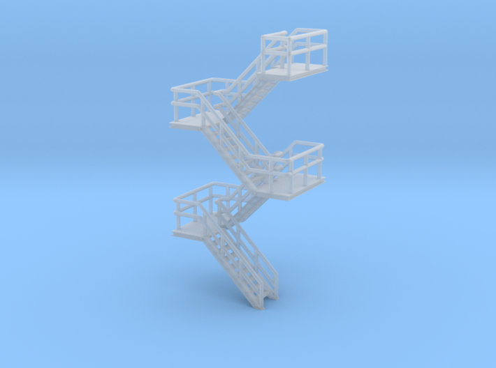 N Scale Staircase H46.4mm 3d printed