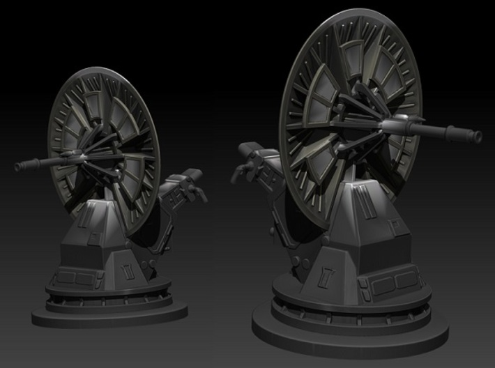 dish turret 1:144 scale 3d printed