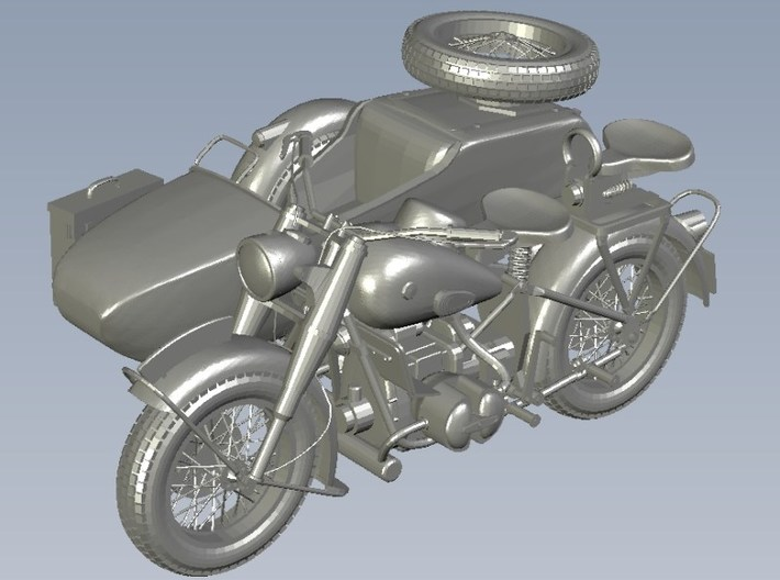 1/120 scale WWII Wehrmacht R75 motorcycles x 3 3d printed
