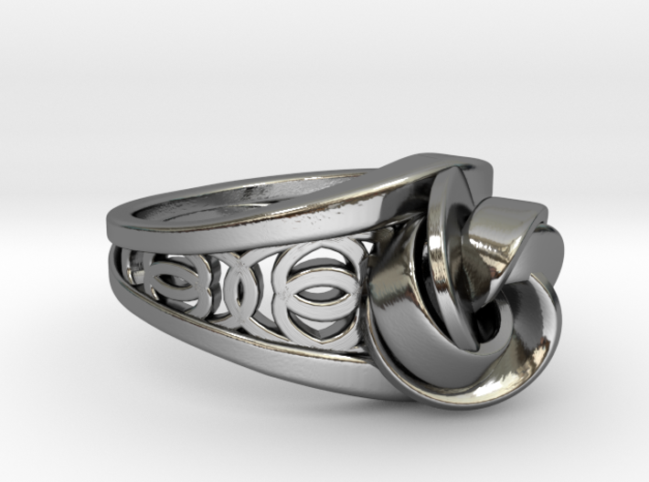 Achtknoten Curve Twin Ring 3d printed Achtknoten Curve Twin Ring