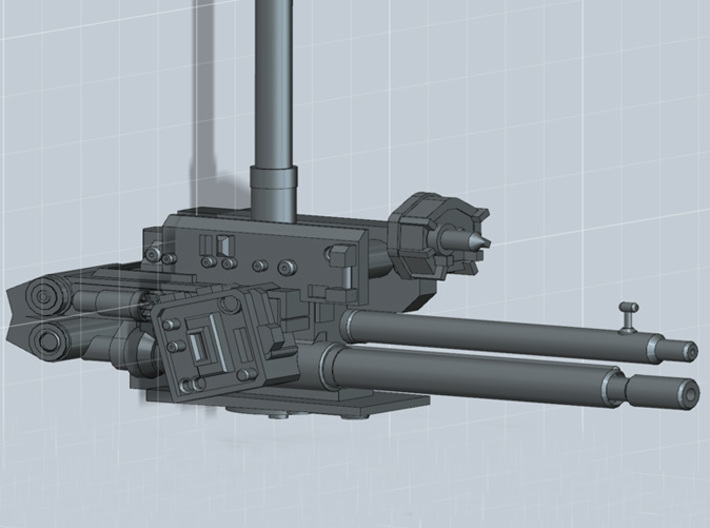 YT1300 LASER  BELLY TURRET MPC 3d printed Millennium Falcon laser belly turret BlasTech, render.