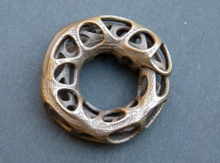 Ouroboros Pendant (M) 3d printed Antique Bronze