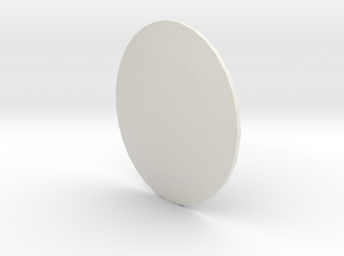 Round Light Cover 3d printed