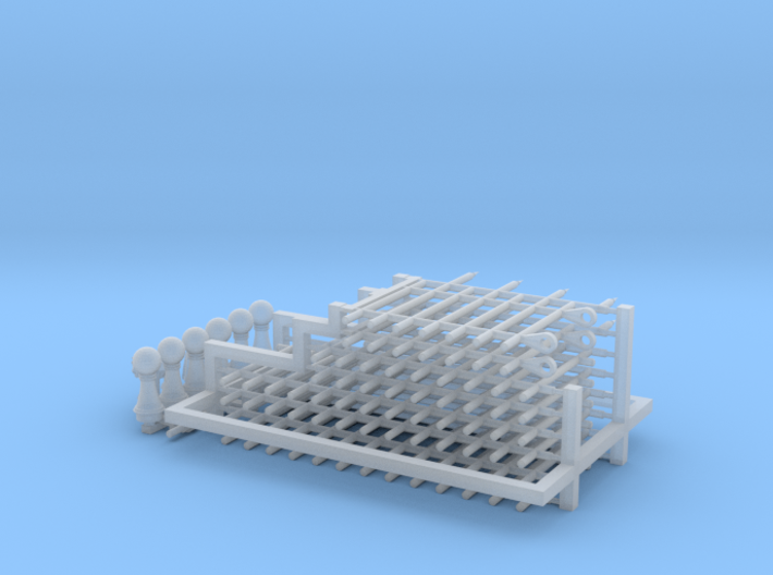 HO/1:87 Cemetery set 5 - fence kit 3d printed
