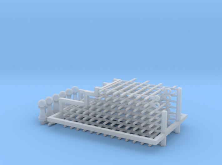 HO/1:87 Cemetery set 5 - fence kit 3d printed