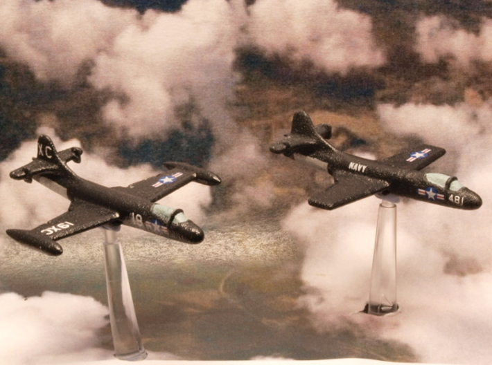 Vought F6U-1 Pirate (Pair) 1/285 6mm 3d printed Vought F6U-1 Pirates in US Navy colors
