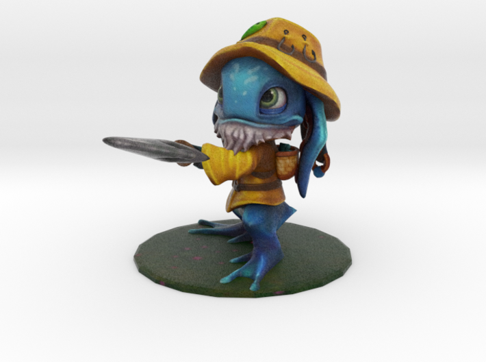 Fisherman Fizz 3d printed