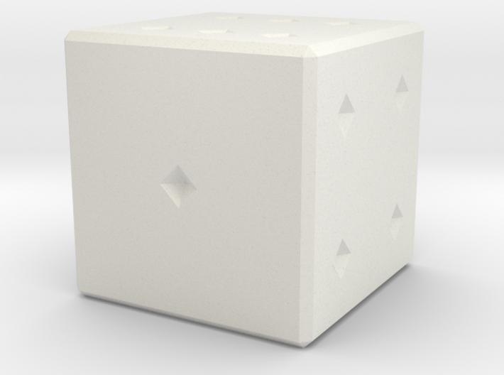6 numbered dice 3d printed