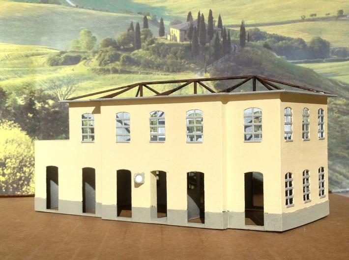 N Scale Train Station Saline di Volterra FS 3d printed