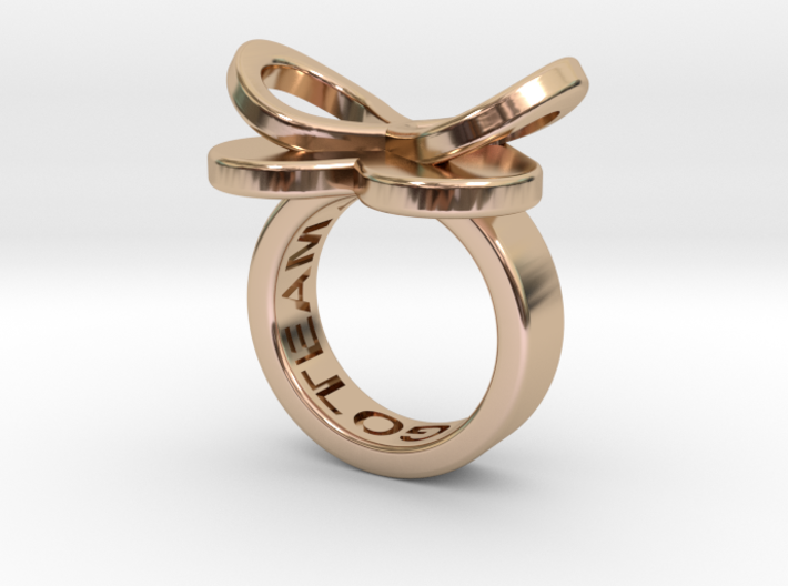AMOUR petite in 14k rose gold 3d printed