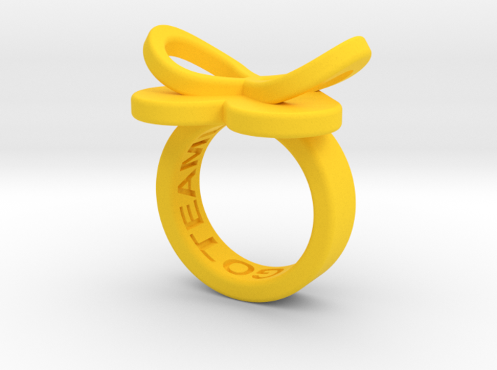 AMOUR petite in yellow polished plastic 3d printed