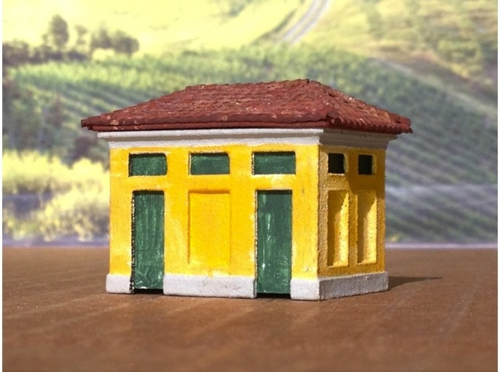 N Scale Gabinetti - Italian FS Railways 3d printed Roofing tile material added, not part of the model