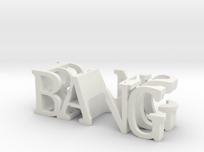 3dWordFlip: BANG/BUS 3d printed