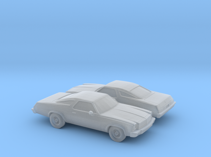 1/160 2X 1975 Chevrolet Chevelle Coupe 3d printed