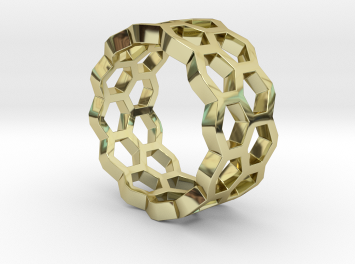 Double Hex Ring 7 3d printed