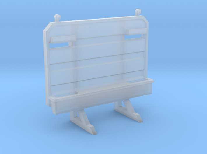 Cab Guard Chain Rack 1-87 HO Scale 3d printed