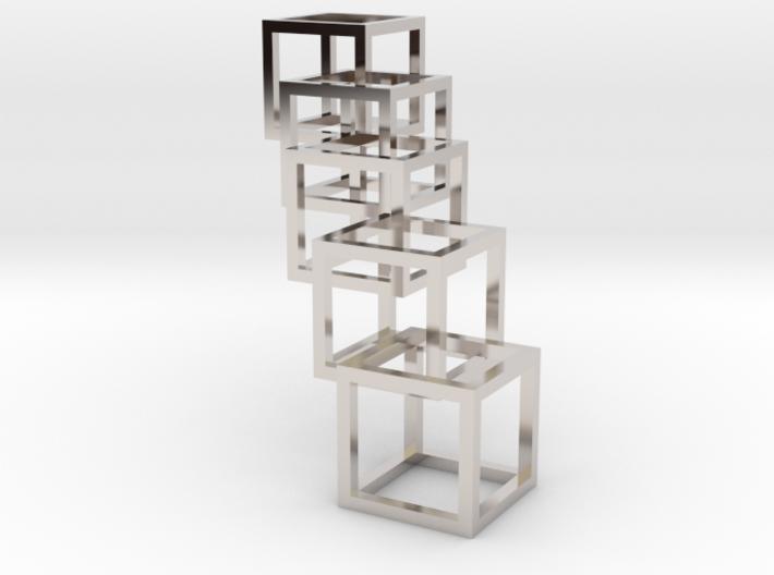 Interlocking Cube Necklace 5 3d printed