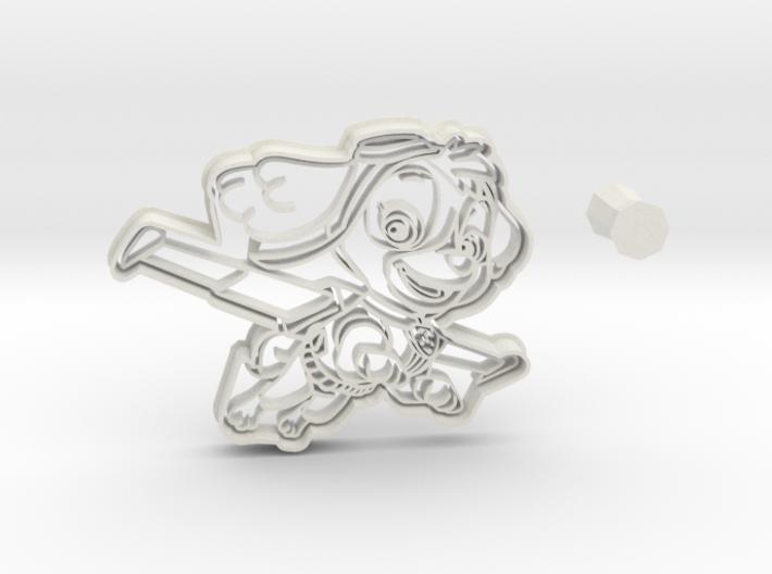 Paw Patrol SKYE Cookie Cutter + handle 3d printed