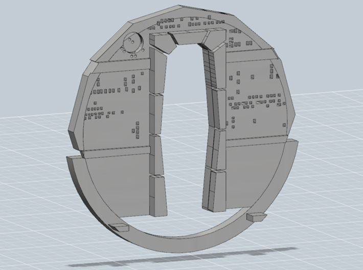 YT1300 MPC CABIN BACK WALL 3d printed Millennium Falcon cabin back wall front, render