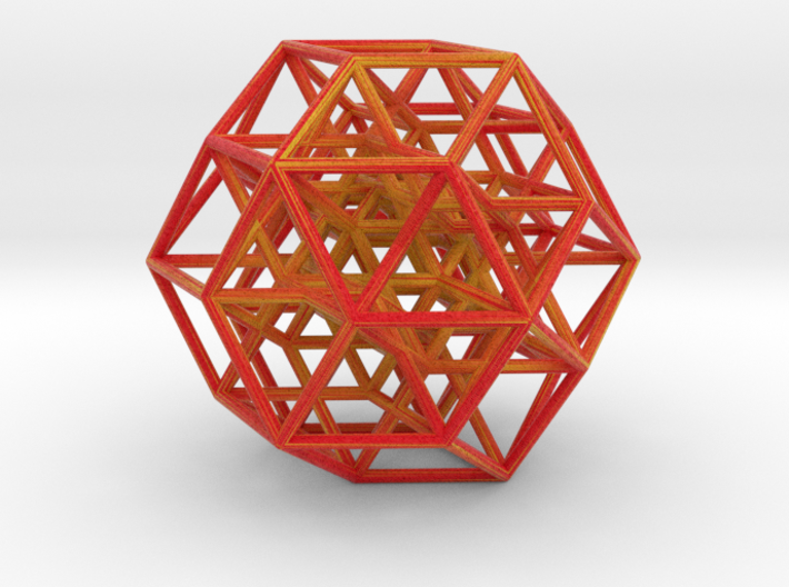 6-cube, color 3d printed
