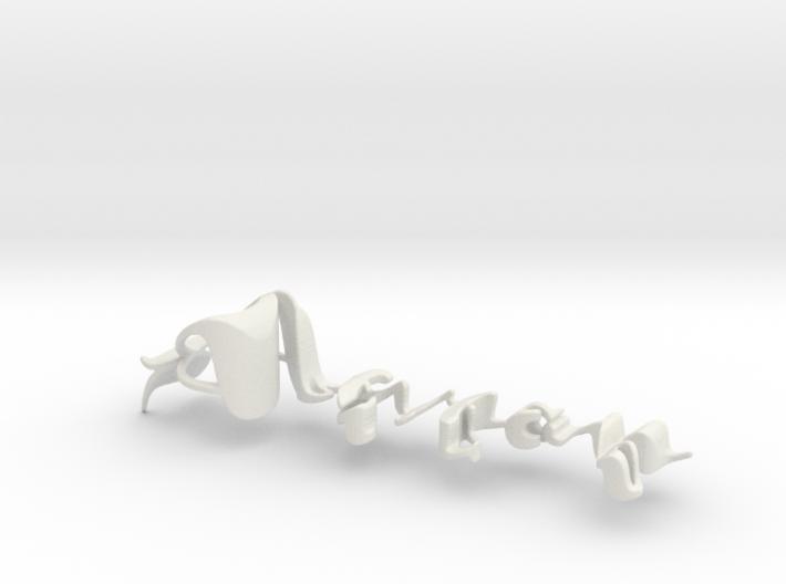 3dWordFlip: Aaron/Delilah 3d printed
