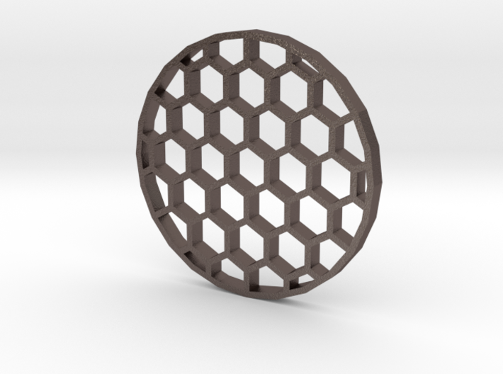 40mm Honeycomb Kill Flash (Stainless Steel) 3d printed