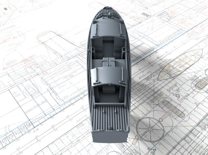 1/144 Royal Navy 35ft Fast Motor Boat 3d printed 3d render showing product detail