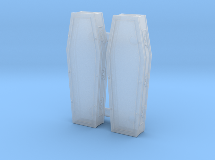 Coffin closed 01. HO scale (1:87) 3d printed