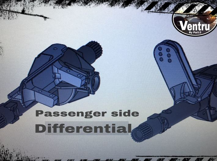 Driver side differential - Support lien AR- AR60 - 3d printed