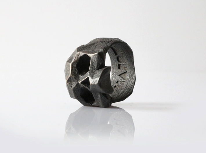 HAROW-SKULL-RING / Size - S 3d printed