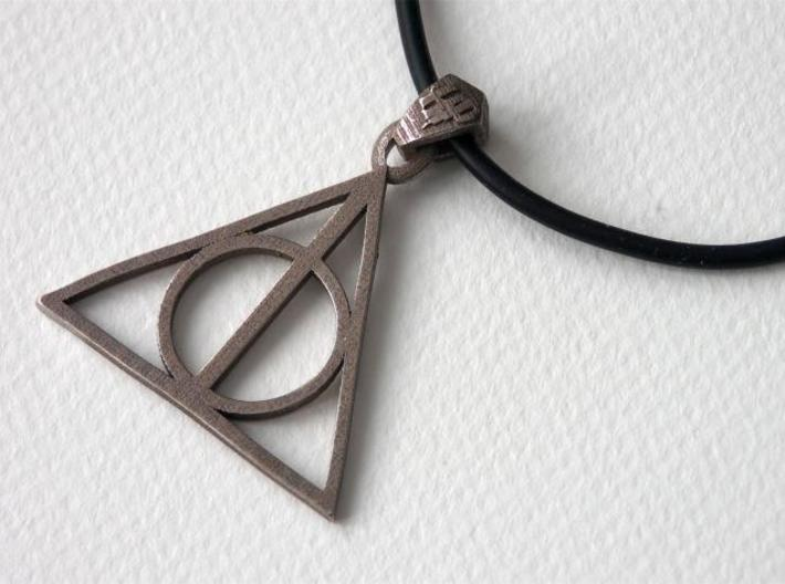 Deathly Hallows Pendant 3d printed Stainless Steel