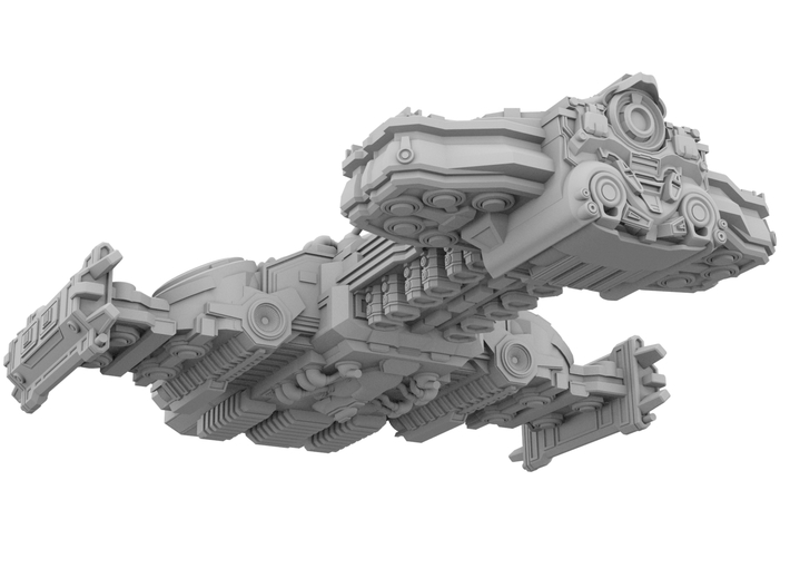 Starcraft 2 - Hyperion Battlecruiser [100mm] 3d printed