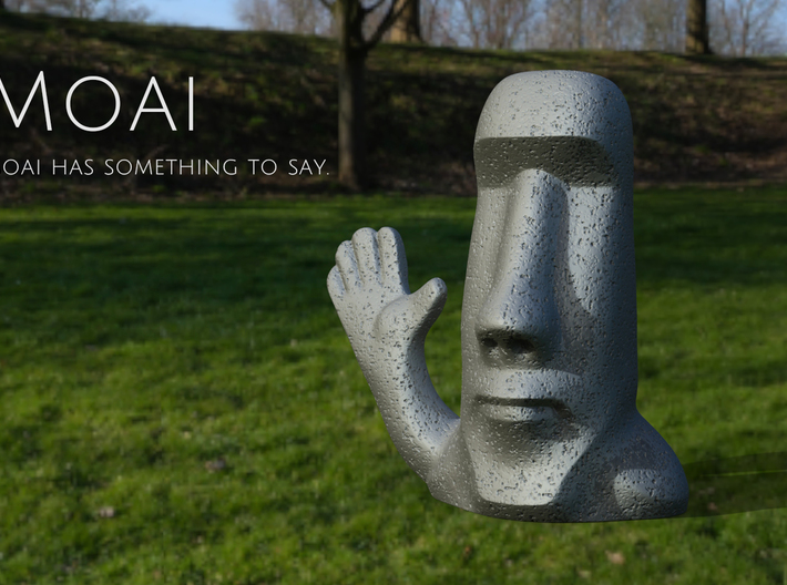 Moai has something to say. 3d printed