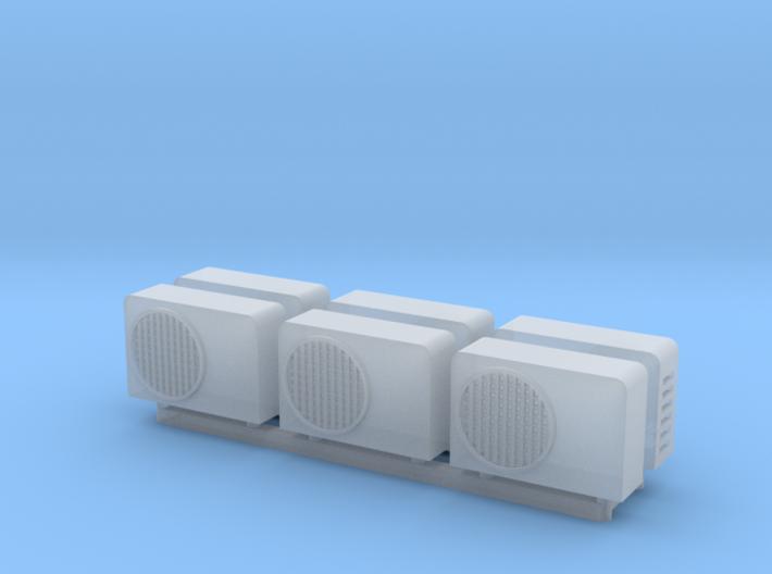 1:100 Aircon units (6pc) 3d printed