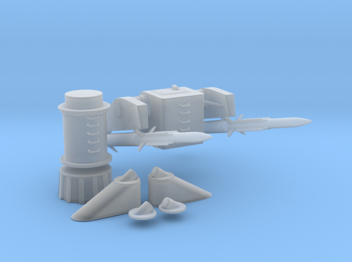 1/96 MK10 GMS Guided Missile Launching System Set 3d printed