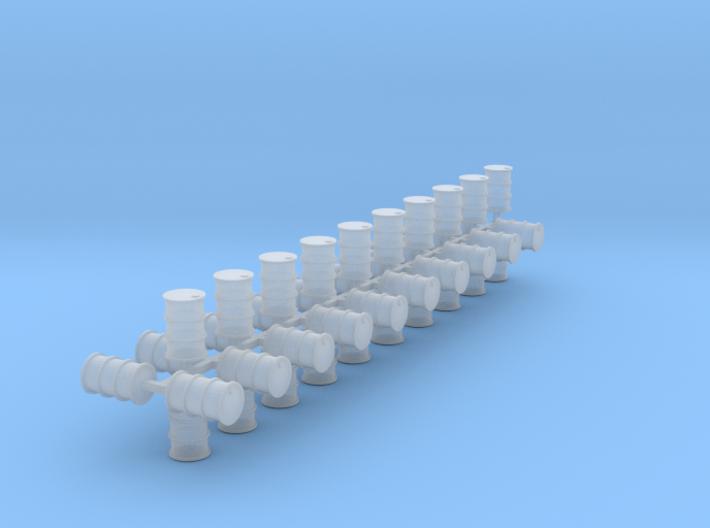 200 Liter Fässer 40er Set Vollmaterial - 1:120 3d printed