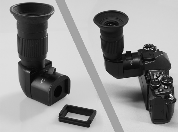 Olympus OM-D E-M5 II angle finder adapter 3d printed