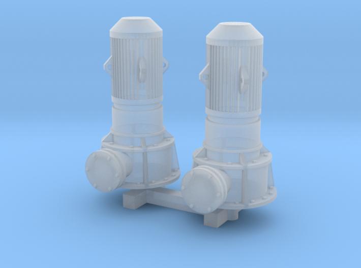 N Scale Vertical Pump 2pc 3d printed