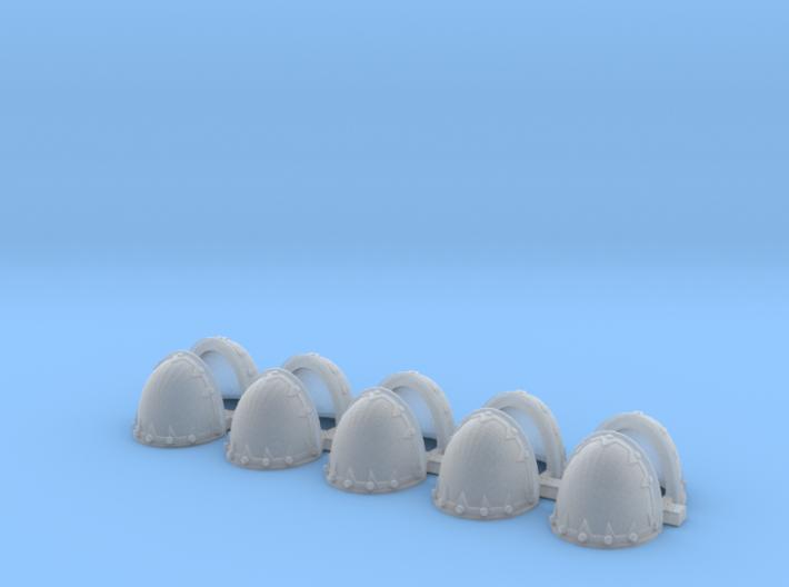 Blank evil rivet rimmed Shoulders - Rebuilt 008a 3d printed