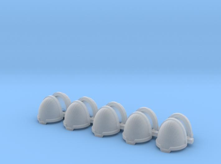 Blank chevron rimmed Shoulders - Rebuilt 008a 3d printed
