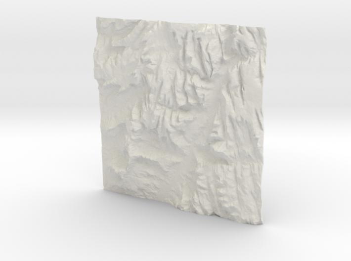 3'' Zion National Park Terrain Model, Utah, USA 3d printed